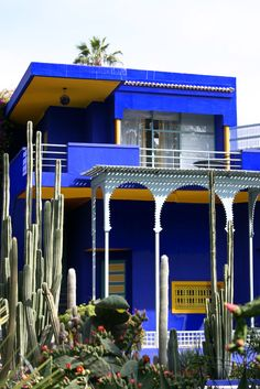 Marrakech, Le Jardin Majorelle, a must have visit early in the mornig Paradise Places, Moroccan Theme, Blue City, Marrakech Morocco, Moorish, Color Of Life, Adventure Is Out There, Around The Worlds, Places Around The World