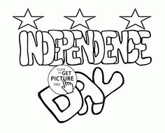 Independence Day Coloring Page For Kids Pages Printables Free