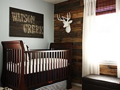 """Reporposed shipping pallets for an amazing accent wall! Done!  """"Bower Power"""" -Katie Bower"""