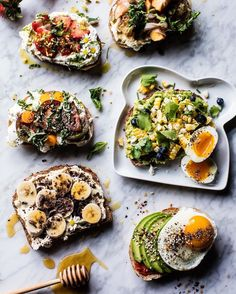 Getting bored with the butter on toast morning routine? @halfbakedharvest shares six toast ideas sure to shake up any meal or snack. Click link in bio for the recipes!