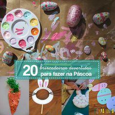 20 ideias simples e criativas para você se divertir na Páscoa com as crianças e fazer da data uma ocasião ainda mais especial.