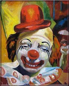 10 Creepy Clown Paintings: Volume 1