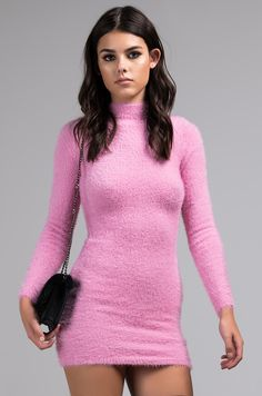 74f688acbfc The AKIRA Label The Sweetest Love Long Sleeve Mini Dress is a soft and  fuzzy