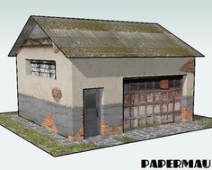 PAPERMAU: More One Garage Paper Model For Dioramas, RPG And Wargamesby Papermau - Download Now!