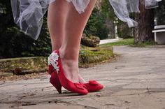 Red wedding shoes lace red wedding shoes by gorgeousweddingshoes