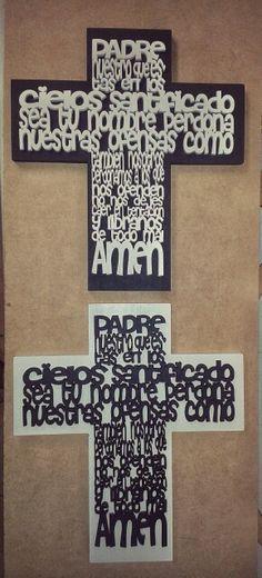 Hermosas cruces con padre nuestro