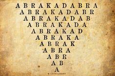 Dieses Zauberwort existiert schon seit dem 3. Jahrhundert nach der Zeitrechnung. Es gibt viele Vermutungen, wo dieses Zauberwort herkommt. Die einen sagen, das es von dem Gottesname Abraxas herleit...