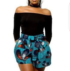 ankara stil Classy ankara shorts and knickers for the sexy ladies African Inspired Fashion, Latest African Fashion Dresses, African Print Fashion, Africa Fashion, Fashion Prints, Ankara Fashion, African Style Clothing, Modern African Fashion, African Party Dresses