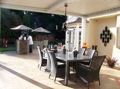 outdoor dining room under vergola - contemporary - dining room - san francisco - Nina sobiNina Design
