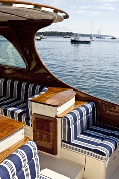Luxury downeast style picnic boat for the finest cruising yacht. Boat features: … Luxury downeast style picnic boat for the finest cruising yacht. Hinckley Boat, Hinckley Yachts, Sailboat Interior, Yacht Interior, Wooden Boat Building, Boat Building Plans, Wooden Boat Plans, Yacht Design, Boat Design