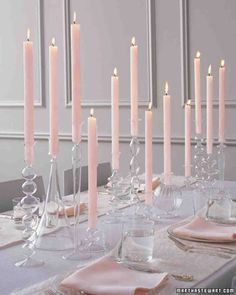 Candle Centerpieces | Martha Stewart Weddings
