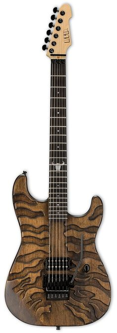 "LTD George Lynch Burnt Tiger CONSTRUCTION Bolt-On SCALE 25.5"" BODY Alder NECK Maple FINGERBOARD Ebony FINGERBOARD RADIUS 350mm FINISH Burnt Satin NUT WIDTH 43mm Lockinig Nut (45mm Neck Width) NUT TYPE"