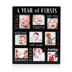 Pearhead Baby's Firsts Chalkboard Style Keepsake Photo Frame, Black *** Click image to review more details. (This is an affiliate link) #BabyKeepsakeProducts