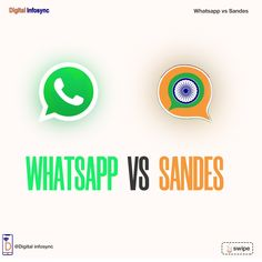 Which one do you prefer? #whatsapp #sandes #whatsappvssandes #digitalinfosync Social Media Marketing, Digital, Business, Store, Business Illustration