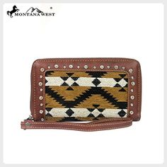 MW119-W003 Montana West Aztec Collection Wallet-Brown