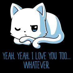 Yeah, yeah, I love you too... Whatever.