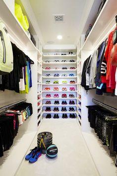 Khloé Kardashian's Fitness Closet Is Completely Insane via @mydomaine