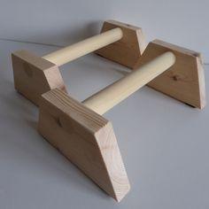 Pair Wood Parallettes Handstand Gymnastics Crossfit dip bar parallel bar push up in Sporting Goods, Gymnastics, Training Equipment   eBay