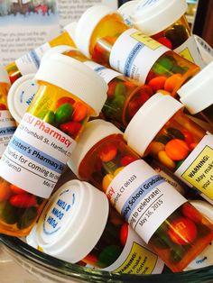 Pharmacy graduation party favors