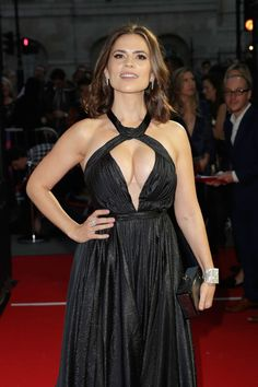 Hayley Atwell attends the 61st BFI London Film Festival Awards.