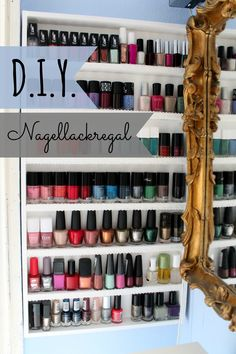 DIY Nail Polish Rack on a budget *ONCE UPON A CREAM Vegan Beauty Blog*
