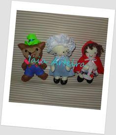 O trio: Lobo Máu, Vovó e a Chapeuzinho, Lembrancinhas de aniversário.
