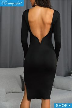 Open Back Side Slit Party Dress Sexy Dresses 524bf07db