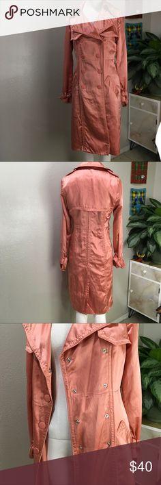 Catherine Malandrino Salmon Colored Coat Super cute salmon colored Coat Catherine Malandrino Jackets & Coats Trench Coats