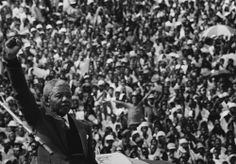 UCT Libraries celebrates the extraordinary life of Nelson Rolihlahla Mandela, affectionately known as 'Madiba'. The archives in the Libraries hold approximately 400 unique photographs of Nelson Mandela, as well as more than 60 films and some miscellaneous documents relating to his life and struggles. We share as a tribute to his legacy, a selection of special moments in his life. You may browse these collections, or search for images and documents on particular themes.