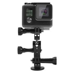 [$7.44] PULUZ CNC Aluminum Ball Joint Mount with 2 Long Screws for GoPro HERO5 /4 /3+ /3 /2 /1(Black)