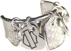 Harley-Davidson® Womens Dangling Hearts Hair Ringz™ Ponytail Jewelry