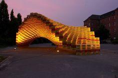 Baxel Pavilion #beercrates #structure #form