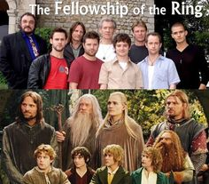 """Love how the """"dwarf"""" is the tallest. <---well, John Rhys-Davies was also the voice of Treebeard, so.it works. Fellowship Of The Ring, Lord Of The Rings, Lotr Cast, Rings Film, O Tv, Film Trilogies, Frodo Baggins, An Unexpected Journey, Jrr Tolkien"""
