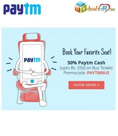 Get 50% Cashback on Bus Booking