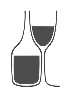 Viti Wine Bar di Tremis Skeete, via Behance - Ideas Debebidas Pizza Y Vino, Wein Poster, Bar Logo, Wine Design, Design Design, Coffee Wine, Wine Art, Wine And Beer, Grafik Design