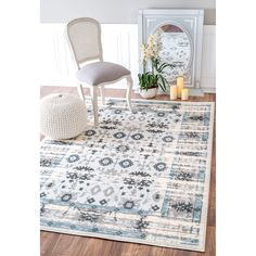 Soft and plush, the pile on this contemporary area rug is made from polypropylene and polyester to prevent shedding, and will tie together any fashionable space.  Add a sense of vintage flair to any living room with this attractive rug.