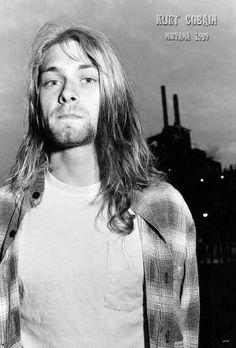 Kurt Cobain Nirvana Grunge Rock Band Seattle Sound Music Poster Size 24x35 Inch #nirvana