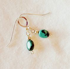 Tiny Turquoise Earrings by allthingsbarbara on Etsy, $18.00