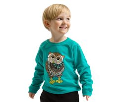 Sweatshirt Hoot Hoot Teal