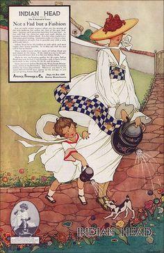"Marjory C. Woodbury - Indian Head Cloth ""Not a Fad but a Fashion"" 1918"