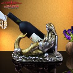 Find More Figurines & Miniatures Information about 2016 Special Offer Limited Home Decoration Accessories Luxury Wine Rack Mermaid Resin Christmas Gifts Housewarming Wedding ,High Quality gift card wedding,China wedding dresses with tool Suppliers, Cheap wedding giveaway gift from Wooden box / crafts Store on Aliexpress.com
