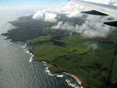 Aerial view of Maui-------A scene I have experienced many times before-I can't wait to see it again!!! <3