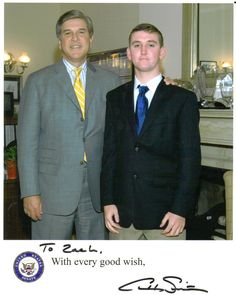 United States Senator Gordon Smith (R-OR) and I #500_02 #publicleaders #focusorg #SenatorSmith #GordonSmith