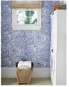wallpaper. snazzy laundry room.