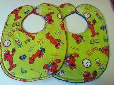Elmo Reversible Waterproof Bibs by ADashofSouthernCharm on Etsy, $5.00