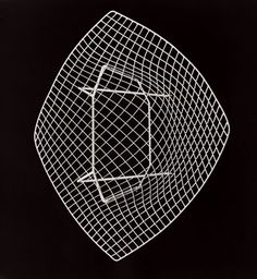 Harry Bertoia for Knoll: 'Diamond' chair, 1952. Herbert Matter chose to have the chair photographed from above for the advertisement that ran at the time.