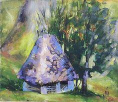 Mown grass deposit in Apuseni (sketch) Art Prints, Original Paintings, Sculptures, Artfinder, Wall Art, Painting, Limited Edition Prints, Artwork, Original Artwork