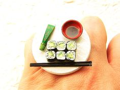 Kawaii Sushi Ring Traditional Japanese Food Jewelry