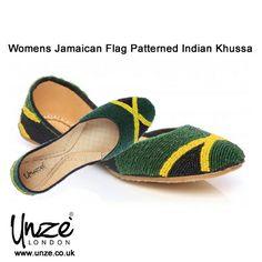 #Womens Jamaican Flag Patterned #Indian #Khussa @Unze London Uk