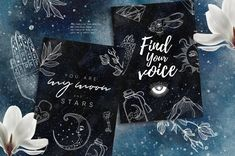 Lunare. Mysterious Graphic Set by Little Magic Box on @creativemarket